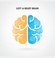 Creative left and right brain sign vector image