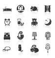 Sleep Time Icons vector image
