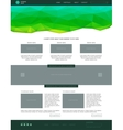 Website template Modern flat style with green vector image
