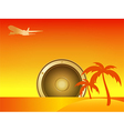 Summer Island with Speaker and Aircraft vector image vector image