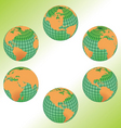geography maps vector image vector image