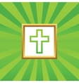 Christian cross picture icon vector image