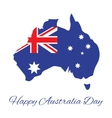 Australia map for Australia Day vector image vector image