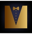 Tuxedo with bow silhouette vector image