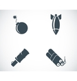 Black bomb icons set vector image