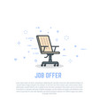 chair and job offer vector image