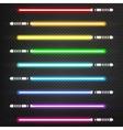 Light swords set vector image