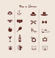 man and woman symbols icons vector image