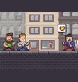 pixel art robbery vector image