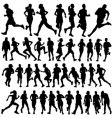 Runner people vector image