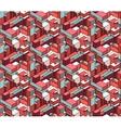 Seamless Isometric Blocks Cubic City vector image