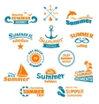 Summer element label vector image