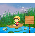 Cartoon Riverboat Boy vector image vector image