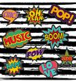 Set of retro pop art sticker or patch designs vector image