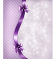 Holiday background with gift glossy bows and vector image vector image