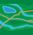 abstract city suburban map vector image