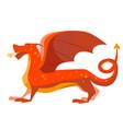 cartoon color fantasy animal dragon vector image
