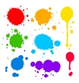 splats and blobs of colored paint vector image vector image