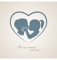 Little girl kissing her mom on Mothers Day vector image