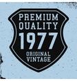 Shield vintage print vector image