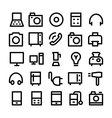 Electronics Icons 1 vector image