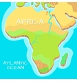 Africa Isometric Map with Natural Attractions vector image