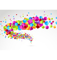 Bright colorful cube 3d swoosh background vector image