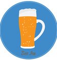 Isolated beer vector image