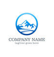 mountain company logo vector image