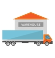 Nice car carrying goods vector image