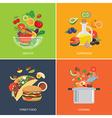set of flat design concept for food vector image