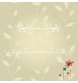 template of greeting card with lace frame vector image