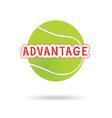 tennis ball green icon vector image