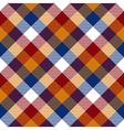 Red orange blue white diagonal check seamless vector image