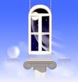 window in the nightly sky vector image vector image