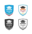University emblem concept of school crest vector image