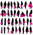 shopping women vector image