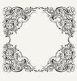 1201HighOrnateQuadFrame vector image vector image