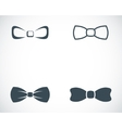 black bow ties icons set vector image