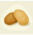 Stylized of fresh ripe potatoes vector image vector image