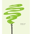 Card with abstracted stylized green tree vector image vector image
