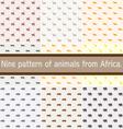 Nine pattern vector image