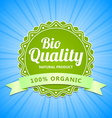 Bio Quality label vector image vector image