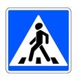 pedestrian crossing sign vector image