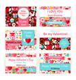 Happy Valentine Day Holiday Template Invitation vector image