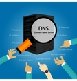 DNS Domain Name System Server vector image