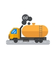 Oil logistic petroleum transportation tank car vector image