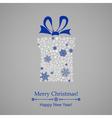 Christmas gift box of snowflakes vector image
