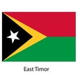 Flag of the country east timor vector image