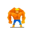 Muscular man shows his strength vector image